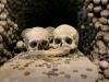 Skulls in a memorial, Sedlec Ossuary